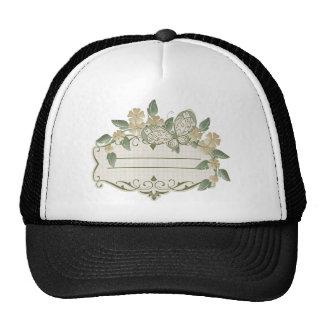 Etiqueta decorativa de la mariposa del estilo del  gorras de camionero