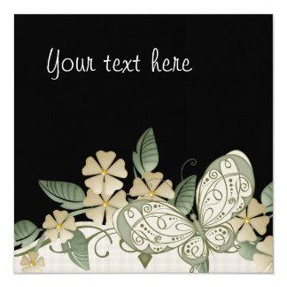 Etiqueta decorativa de la mariposa del estilo del invitación 13,3 cm x 13,3cm