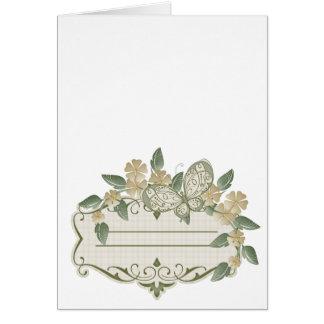 Etiqueta decorativa de la mariposa del estilo del tarjetas
