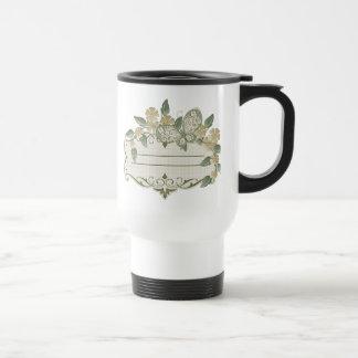 Etiqueta decorativa de la mariposa del estilo del taza de viaje de acero inoxidable