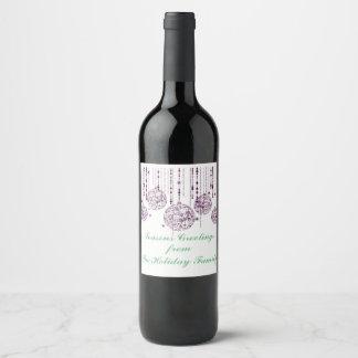 Etiqueta decorativa del vino de los ornamentos del