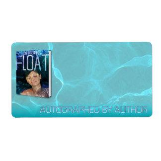 Etiqueta Dedicado por el autor para el flotador