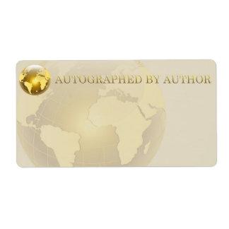 Etiqueta Dedicado por el mundo del oro del autor