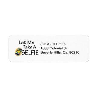Etiqueta Déjeme tomar un Selfie