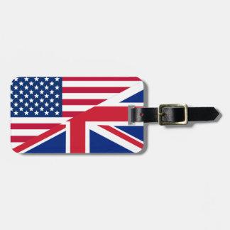 Etiqueta del americano y del equipaje de la
