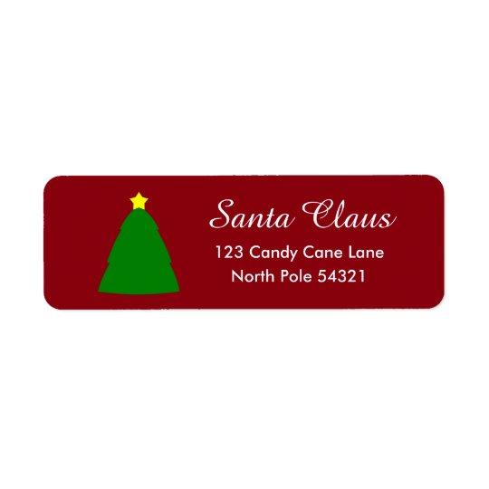Etiqueta del árbol de navidad