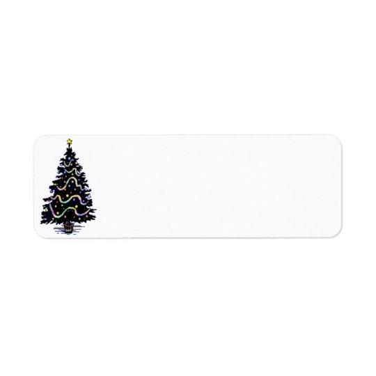 Etiqueta del árbol de navidad del país etiquetas de remite