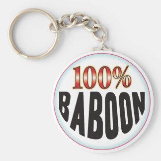 Etiqueta del babuino llavero personalizado