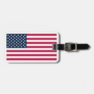 Etiqueta del bolso de la Americano-Bandera
