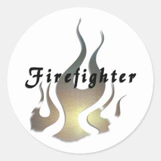 Etiqueta del bombero