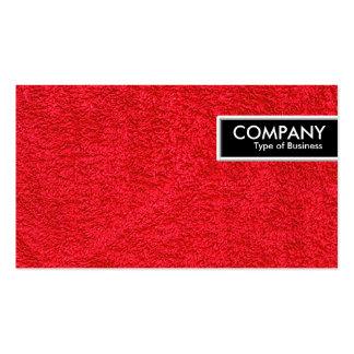 Etiqueta del borde - alfombra roja tarjetas de visita