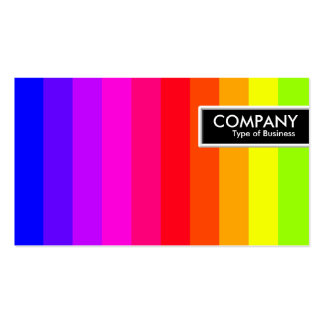 Etiqueta del borde - barras de color tarjetas de visita