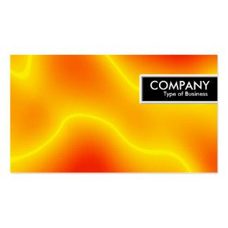 Etiqueta del borde - llama del plasma plantilla de tarjeta personal