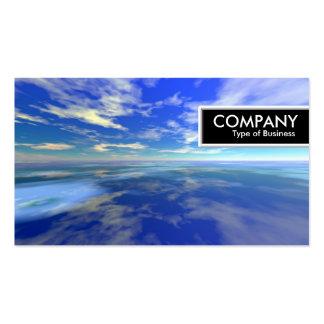 Etiqueta del borde - mar y cielo tarjetas de visita