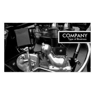 Etiqueta del borde - motor clásico de la moto tarjetas de visita