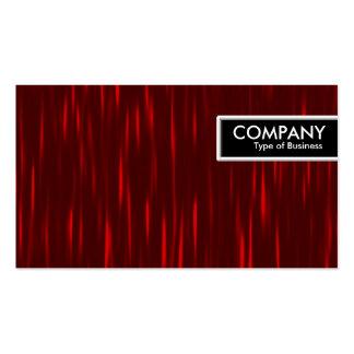 Etiqueta del borde - rayas rojas tarjetas de visita