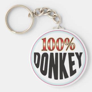 Etiqueta del burro llaveros personalizados