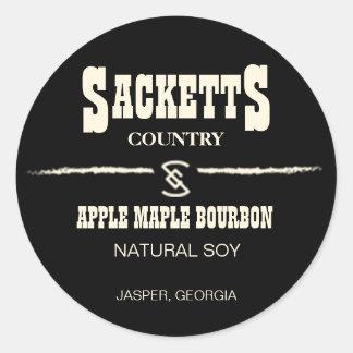 Etiqueta del círculo de la vela de Sacketts