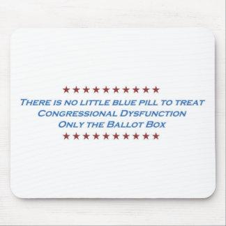 Etiqueta del congreso de la disfunción alfombrilla de ratón