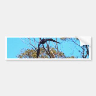 etiqueta del cuervo pegatina de parachoque