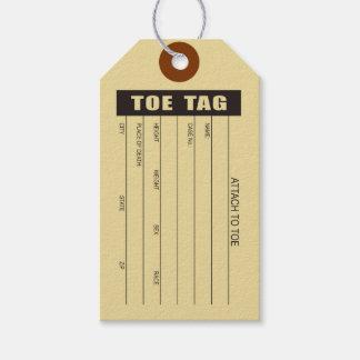 Etiqueta del dedo del pie etiquetas para regalos