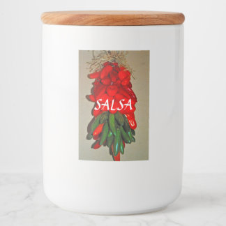 Etiqueta del envase de comida de la salsa
