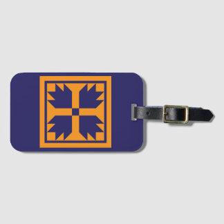 Etiqueta del equipaje - bloque del edredón de la