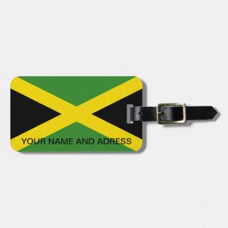 Etiqueta del equipaje con la bandera de Jamaica