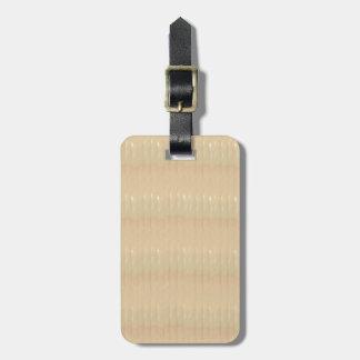 Etiqueta del equipaje con la correa de cuero