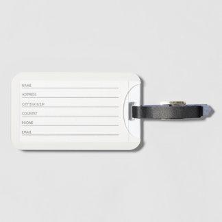 Etiqueta del equipaje con la ranura para tarjeta