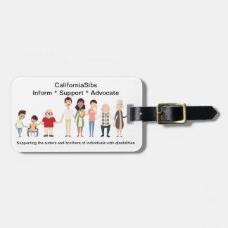 Etiqueta del equipaje de CaliforniaSibs