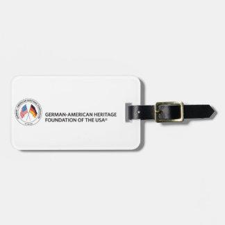 Etiqueta del equipaje de GAHF