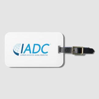 Etiqueta del equipaje de IADC con la ranura para