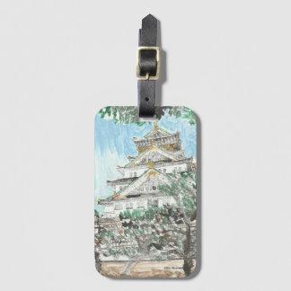 Etiqueta del equipaje de Japón del castillo de