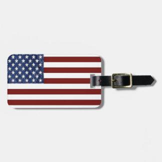Etiqueta del equipaje de la bandera americana