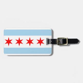 Etiqueta del equipaje de la bandera de Chicago