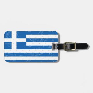 Etiqueta del equipaje de la bandera de Grecia
