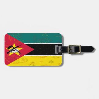 Etiqueta del equipaje de la bandera de Mozambique