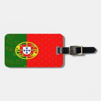 Etiqueta del equipaje de la bandera de Portugal
