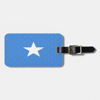 Etiqueta del equipaje de la bandera de Somalia