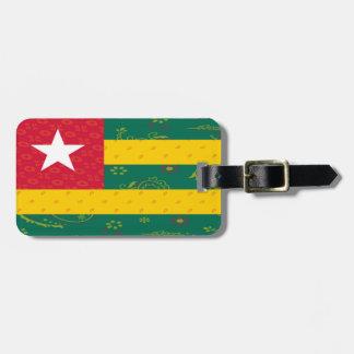 Etiqueta del equipaje de la bandera de Togo