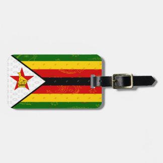 Etiqueta del equipaje de la bandera de Zimbabwe