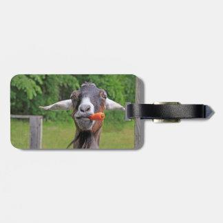 Etiqueta del equipaje de la cabra