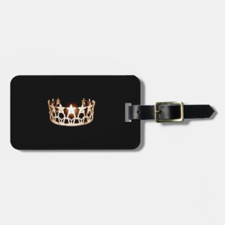 Etiqueta del equipaje de la corona del oro de la