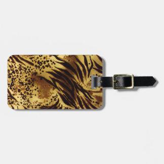 Etiqueta del equipaje de la impresión del safari