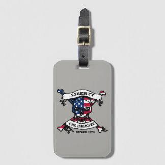 Etiqueta del equipaje de la libertad o de la