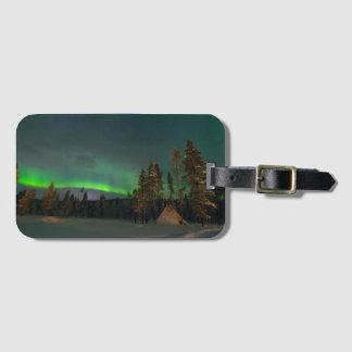Etiqueta del equipaje de la luz septentrional