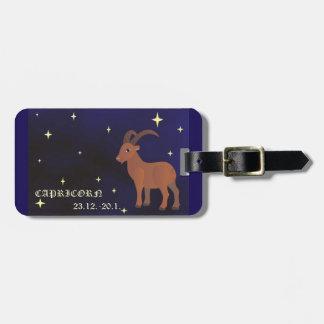 Etiqueta del equipaje de la muestra del zodiaco