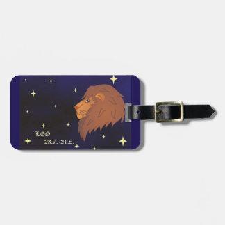 Etiqueta del equipaje de la muestra del zodiaco de