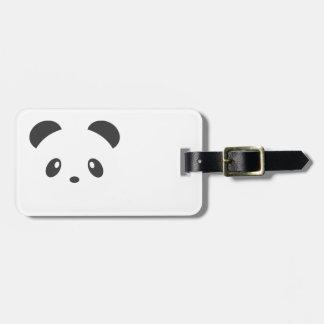 Etiqueta del equipaje de la panda